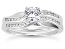 0.54 Carat Diamond Elegant Bridal Ring Set