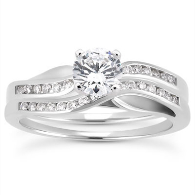 0.71 Carat Diamond Elegance Bridal Ring Set