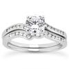 Modern Design Bridal Wedding Ring Set