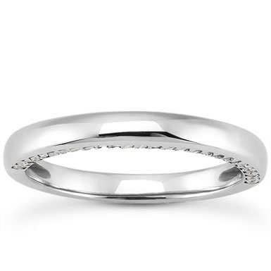 14 Carat Side Accented Diamond Wedding Band