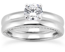 1 Carat Side Accented Diamond Bridal Wedding Ring Set