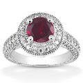 Antique Halo Ruby Ring