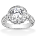 1.31 Carat Antique Halo Engagement Ring