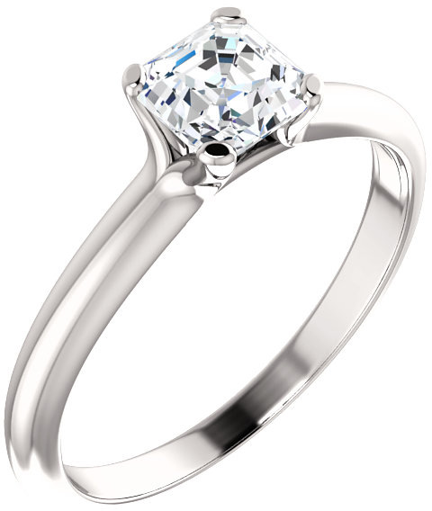 Asscher-Cut 0.70 Carat Diamond Engagement Ring