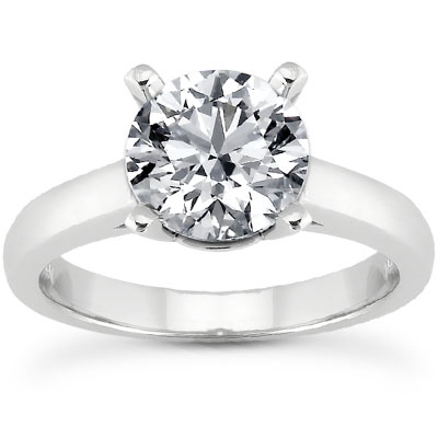 1 Carat Classic CZ Solitaire Engagement Ring