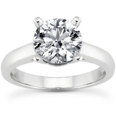 0.75 Carat Classic Diamond Solitaire Engagement Ring