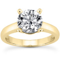 0.50 Carat Classic Diamond Solitaire Engagement Ring in 14K Yellow Gold