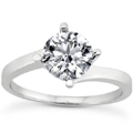 1/2 Carat Diamond Twist Engagement Ring