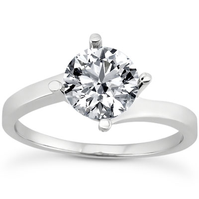 1/4 Carat Diamond Twist Engagement Ring