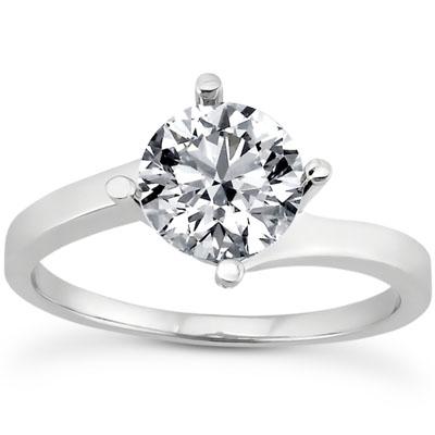 1/3 Carat Diamond Twist Engagement Ring