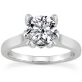 0.61 Carat Diamond Engagement Ring in 14K White Gold