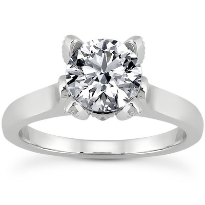 0.61 Carat Diamond Engagement Ring in 14K White Gold