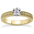 1/4 Carat Diamond Filigree Engagement Ring in 14K Yellow Gold