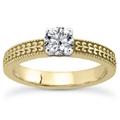 1/4 Carat Diamond Filigree Engagement Ring in 14K Yellow Gold