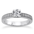 0.25 Carat Diamond Engraved Engagement Ring
