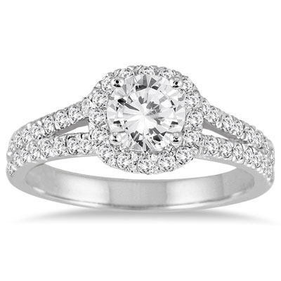 Estate-Inspired 1 1/4 Carat Diamond Engagement Ring in 14K White Gold