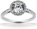1.27 Carat Halo Diamond Engagement Ring (0.75 Carat Center)