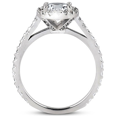 stones side engagement sides with graduated size diamond round ring rings cathedral