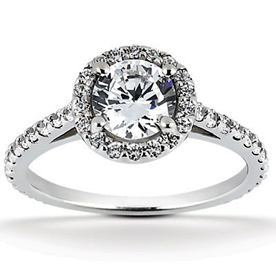 1.64 Carat Halo Engagement Ring (1 Carat Center)