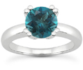 0.50 Carat Blue Diamond Modern Solitaire Engagement Ring