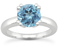 Blue Topaz Modern Solitaire Ring