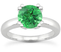 Emerald Modern Solitaire Engagement Ring