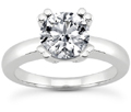 Half Carat Modern Solitaire Diamond Engagement Ring