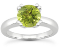 Peridot Modern Solitaire Ring