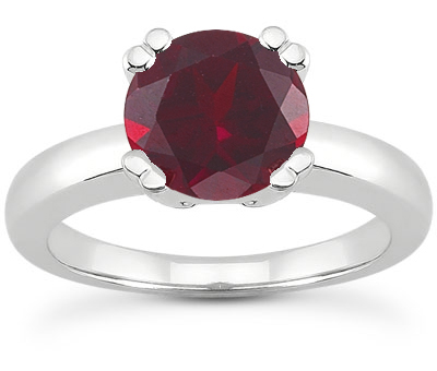 Ruby Modern Solitaire Engagement Ring
