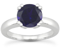 Sapphire Modern Solitaire Engagement Ring
