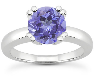 Tanzanite Modern Design Engagement Ring