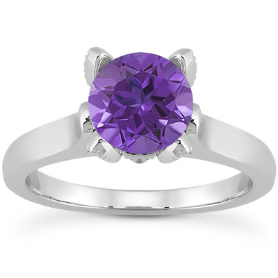 Tanzanite and Diamond Accent Solitaire Engagement Ring
