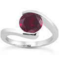 Tension Set Ruby Engagement Ring