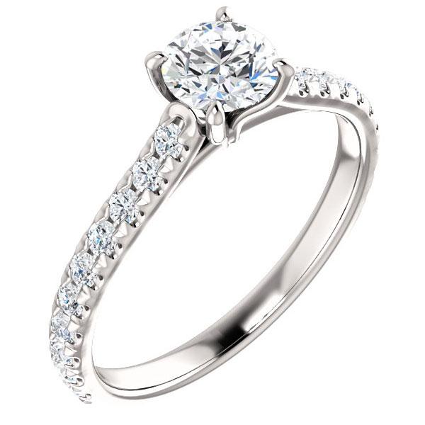 0.90 Carat French-Set Diamond Engagement Ring