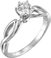 1/2 Carat Cathedral-Knot Diamond Engagement Ring