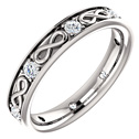 1/2 Carat Diamond Infinity Symbol Wedding Band Ring
