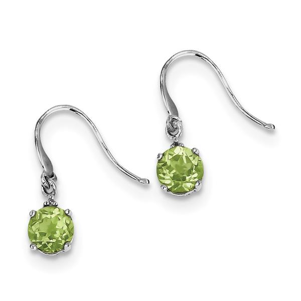 1.82 Carat French-Wire Peridot Earrings, Sterling Silver