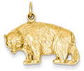 14K Gold Bear Pendant