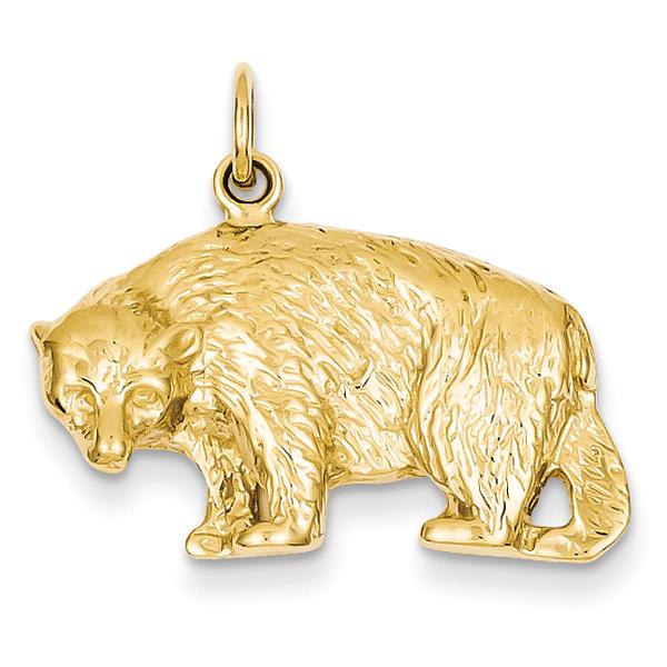 14K Gold Bear Pendant