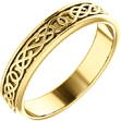Men's 14K Gold Celtic Pretzel Knot Wedding Band Ring