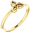 14K Gold Celtic Trinity Knot Triquetra Ring
