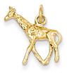 14K Gold Giraffe Pendant