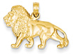 14K Gold Lion Pendant