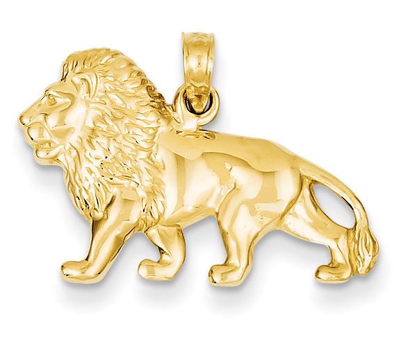 14K Gold Lion Pendant