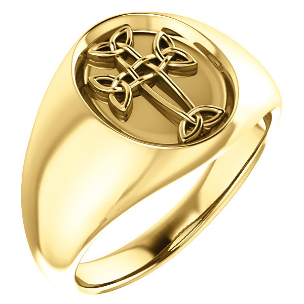 Men's 14K Gold Celtic Cross Ring