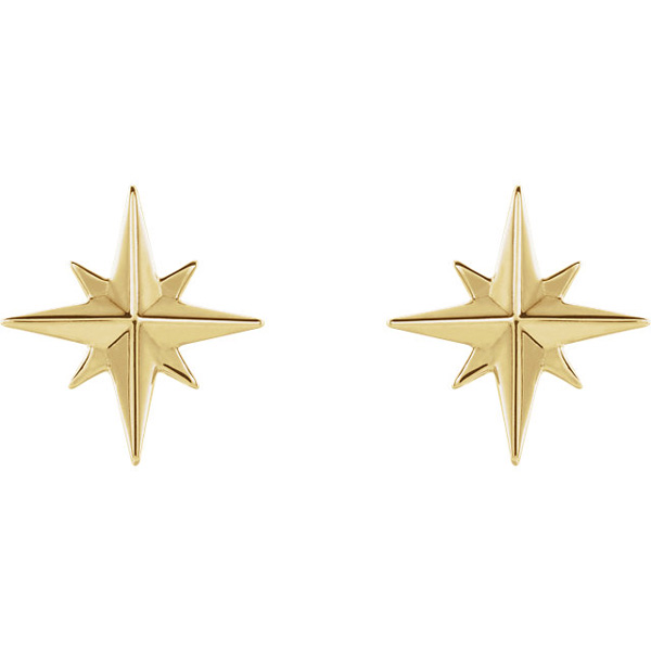 studs yg baby earrings gold star design and solid a yellow stud argenton small with set grande diamond products