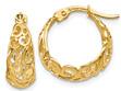 Small 14K Gold Paisley Hoop Earrings