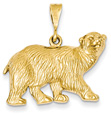 14K Gold Polar Bear Pendant
