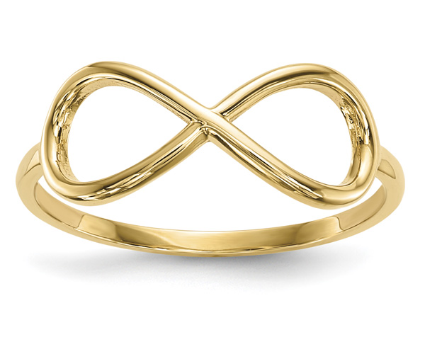 14K Gold Polished Infinity Ring