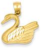 14K Gold Swan Pendant